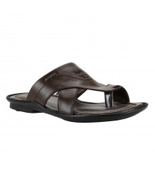 Cefiro Brown Slipper for Men - CSP0006